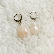 Load image into Gallery viewer, Faceted Pink Aventurine ❥ Drop Earrings