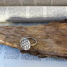 Load image into Gallery viewer, Silver Ring • Flower of Life • 925 Sterling Silver