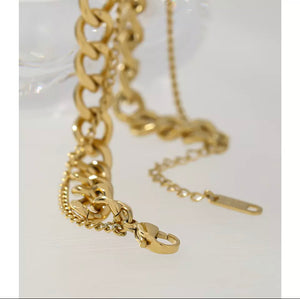 Double Chain Necklace • Stainless Steel