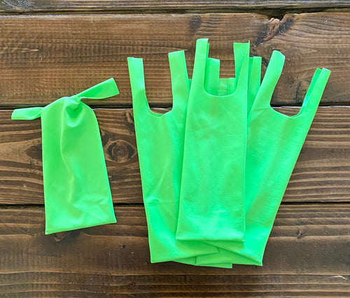 Lime - 10 Two-String Mane Bags
