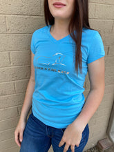 Load image into Gallery viewer, Blue V-Neck Tee