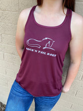Load image into Gallery viewer, Wine Racerback Tank Top