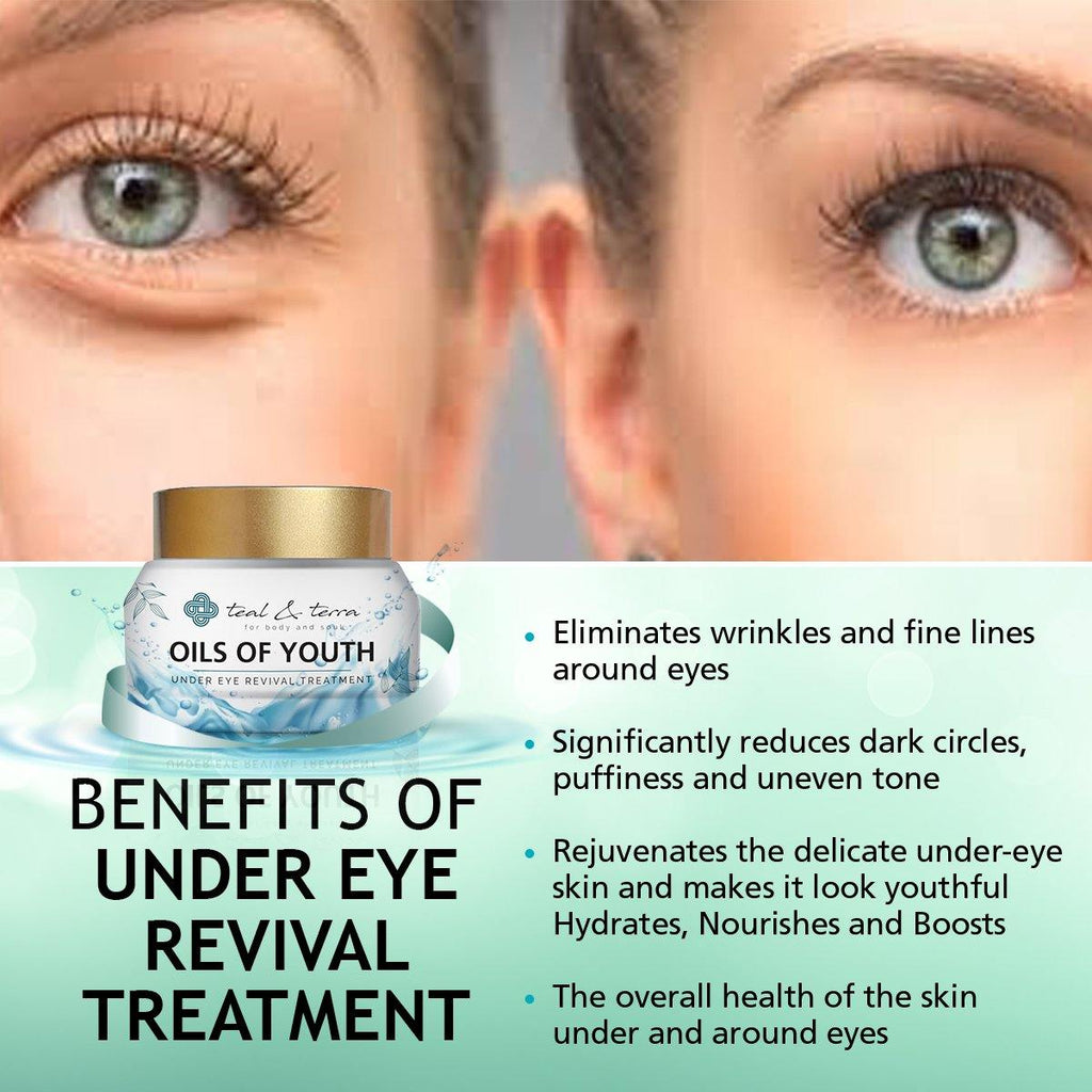 Under Eye Revival Treatment with Pure Essential Oils and Vitamins