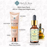 Best Skin Care Pack- Kumkumadi Oil with All in One Face Care Cream