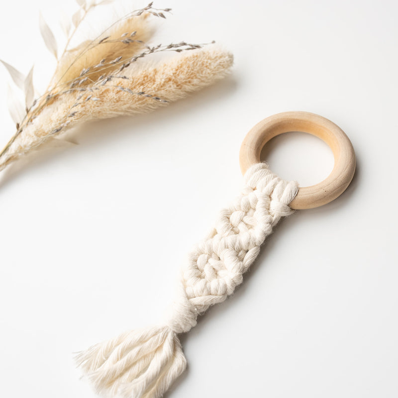 MACRAME TEETHER - TINY