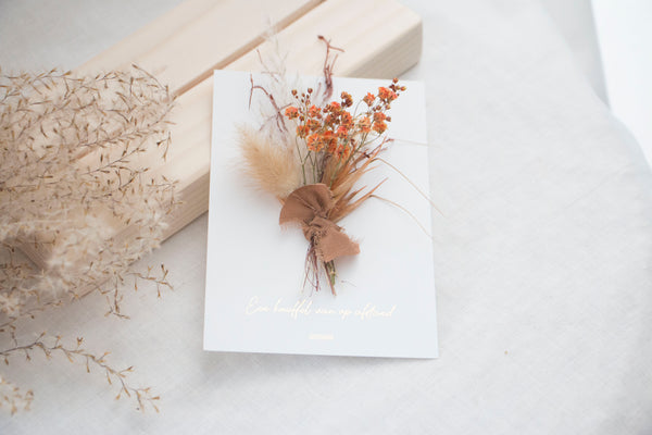 DRIED FLOWER BOUQUET MINI  -  ORANGE SPLASH