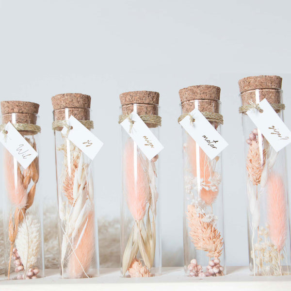 DRIED FLOWER TUBES GODMOTHER - PEACH