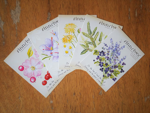 Set of 5 Botanical Postcards