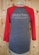 Load image into Gallery viewer, Finnriver Unisex Baseball T-shirt with Logo