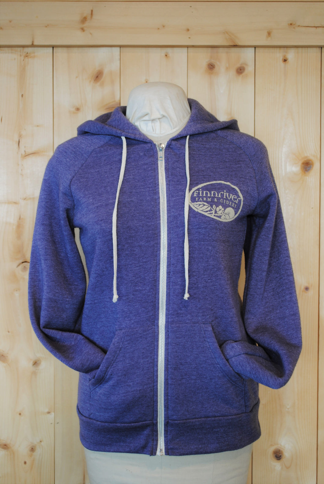 Women's Zip Hoodie with Apple