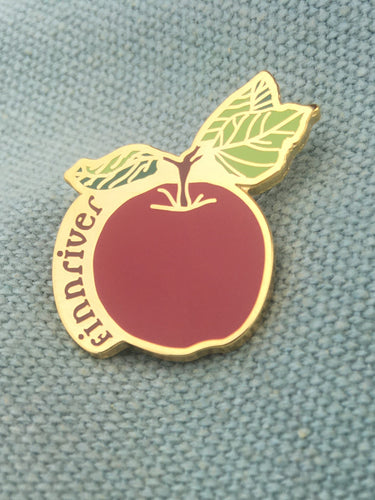 Finnriver Enamel Apple Pin