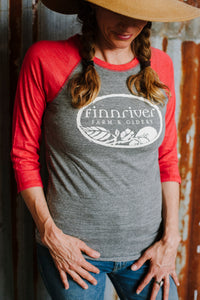 Finnriver Unisex Baseball T-shirt with Logo