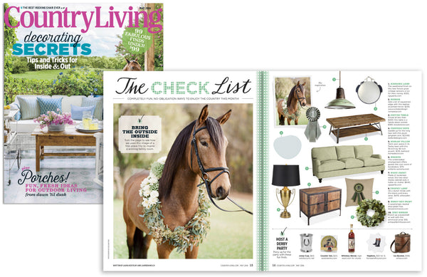 equestrian leather mirror by Stephanie Reppas, Country Living Magazine