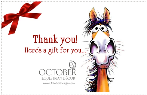 eGift Cards from October Design Equestrian Decor