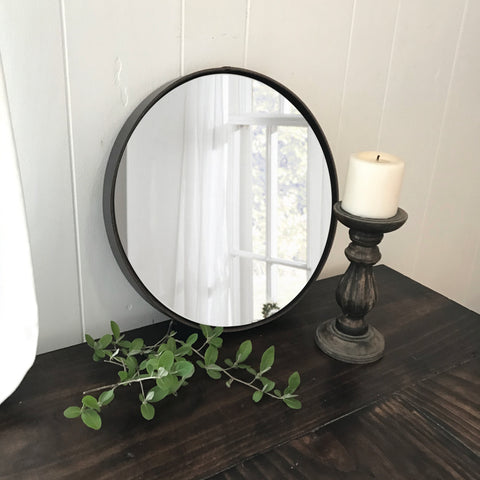 SOLD - 1800 Leather Equestrian Mirror with Antique Bit