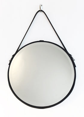 Buffalo Leather Strap Mirror (16-inch)