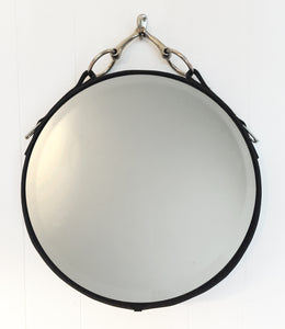 "28"" Classic Buffalo Leather Equestrian Mirror"