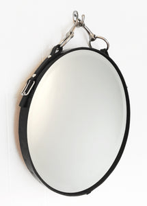 "24"" Classic Buffalo Leather Equestrian Mirror"