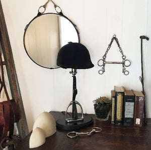 SOLD: English Stirrup Table Lamp