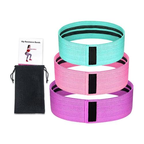 3 Pcs Natural Latex Resistance Bands For Legs - Thigh And Hip Trainer - ShapeFitup