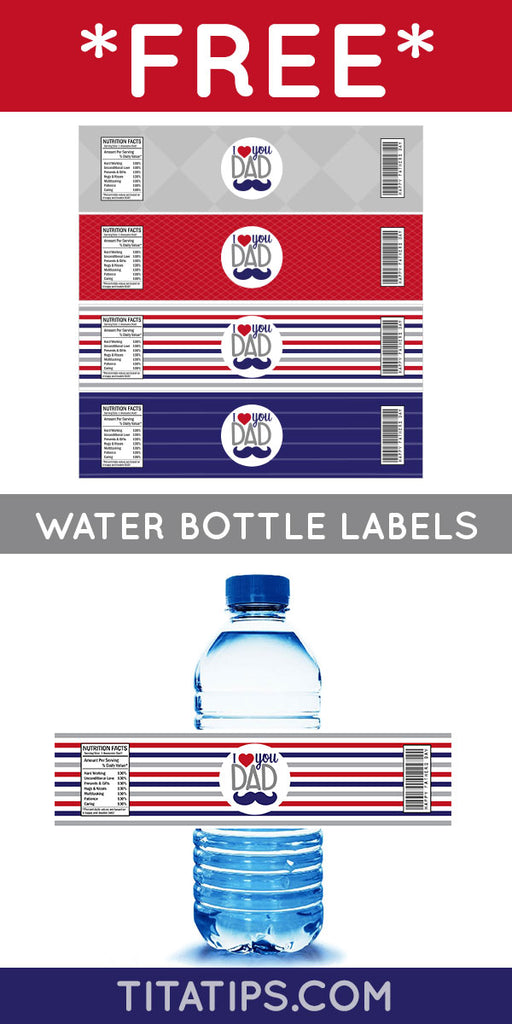 👔👉 FREE Printable: Father's Day Water Bottle Label!😎