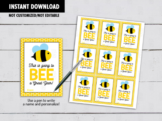 This is going to BEE a Great Year, Back to School, Teacher Appreciation, [INSTANT DOWNLOAD] - TitaTipsPrintables