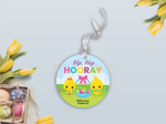Hip Hip Hooray Gift Tag, Chicks Round Sticker, Type your own Name [INSTANT DOWNLOAD] - TitaTipsPrintables