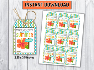 Have a Great Summer Tags, Aloha Classmates Gifts Ideas, [INSTANT DOWNLOAD] - TitaTipsPrintables