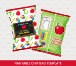 It takes a big HEART to teach Little Minds Chip Bag, Teacher Appreciation  DIGITAL FILE - TitaTipsPrintables