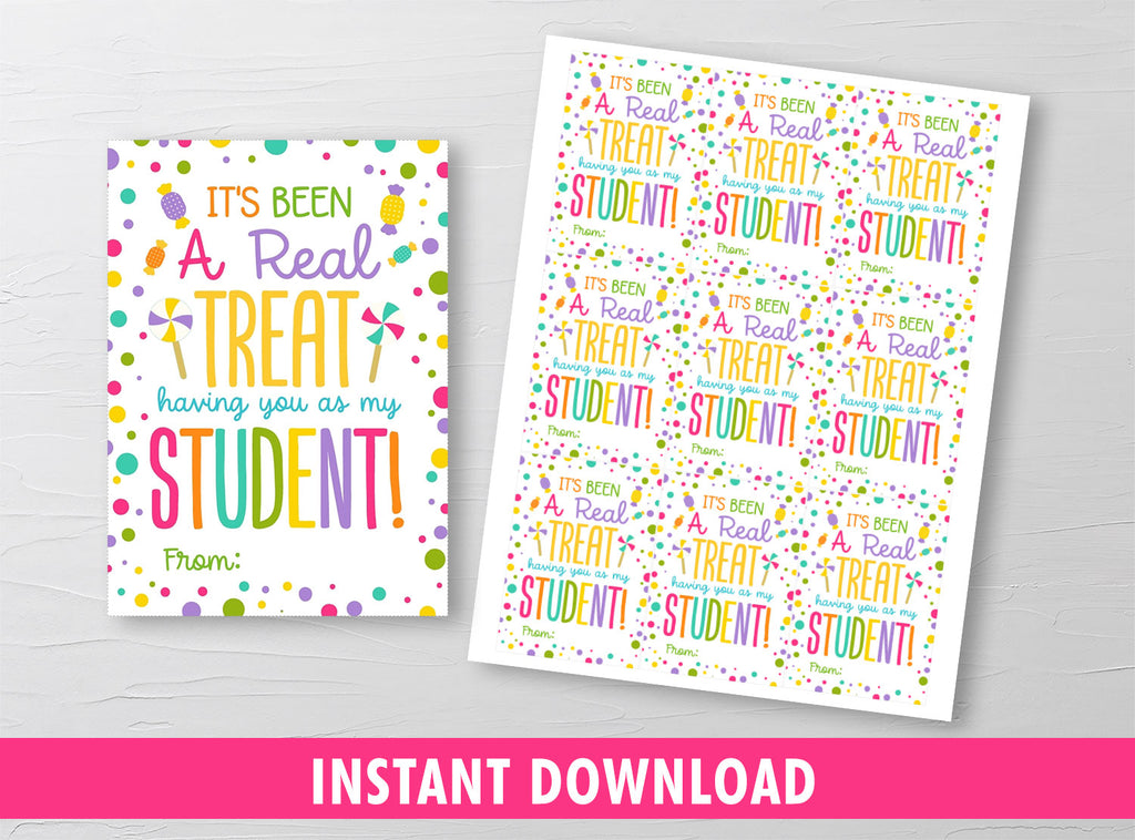 It's been a real treat having you as my student gift tags [INSTANT DOWNLOAD] - TitaTipsPrintables