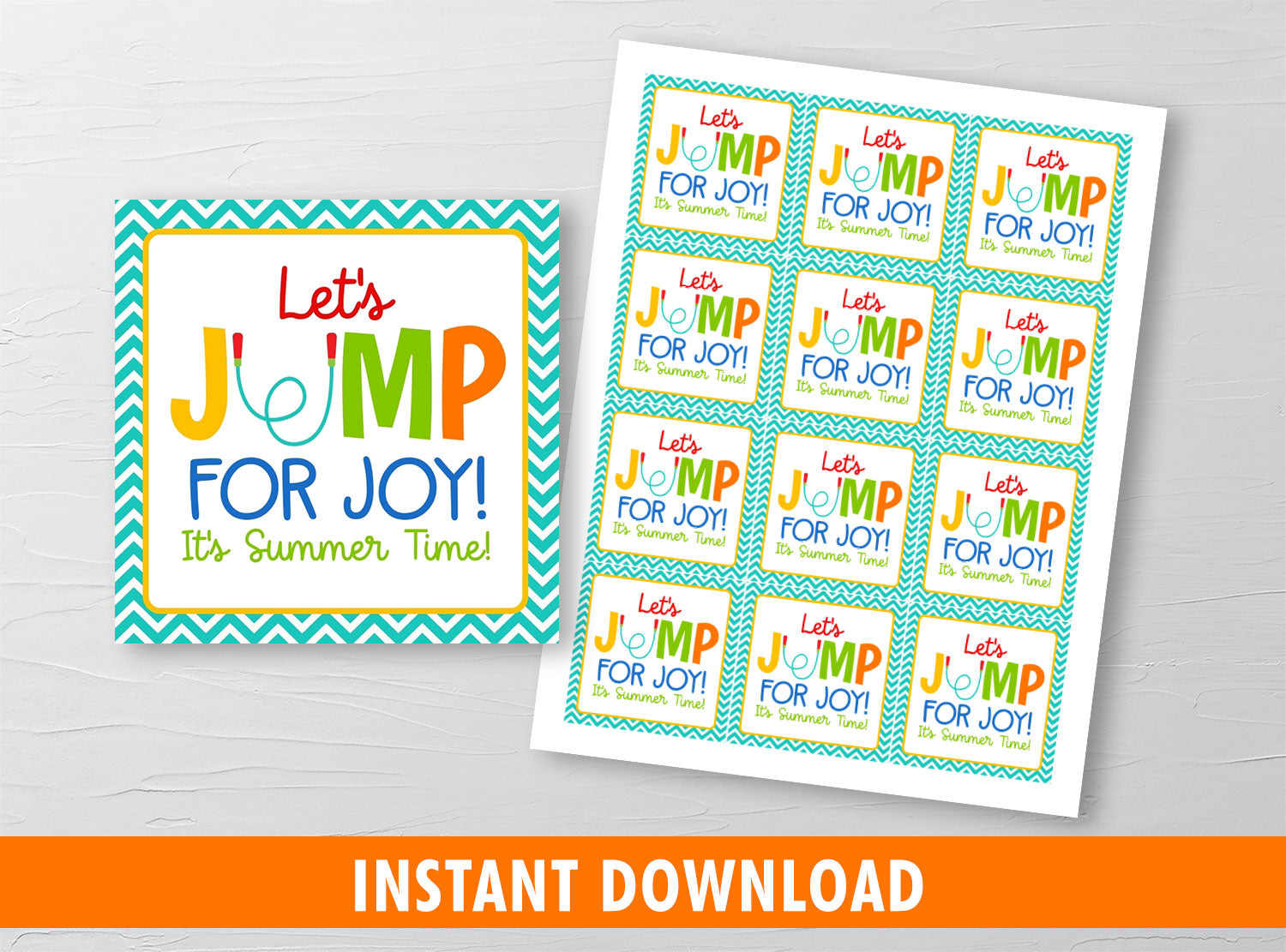 Jump for Joy gift tag, Skipping Rope Classmates Exchange Cards Ideas [INSTANT DOWNLOAD] - TitaTipsPrintables