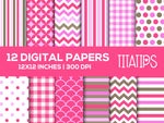 Happy Mother's Day Digital Paper Set, Digital backgrounds, Commercial Use [INSTANT DOWNLOAD] - TitaTipsPrintables