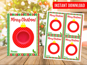 Ornament Play Dough Holder Card, Printable Gift Ideas, Gift Exchange Ideas, INSTANT DOWNLOAD