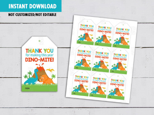 Thank you for making this year Dinomite Gift Tags, Boy Dinosaur Favors, Classmates Exchange Card Ideas [INSTANT DOWNLOAD] - TitaTipsPrintables