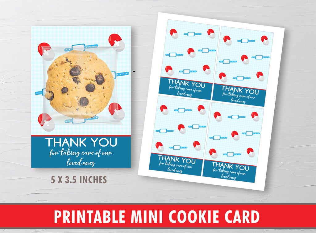 Nurse Appreciation Packaging Mini Cookies, Healthcare Heroes Gift Tags, Doctor, Hospital, Medical INSTANT DOWNLOAD - TitaTipsPrintables