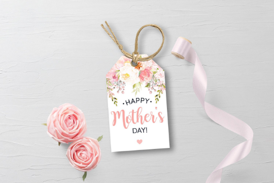 Happy Mother's Day Gift Tags, Watercolor Flower Wreath, Party Favors [INSTANT DOWNLOAD] - TitaTipsPrintables