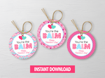 You're the BALM Round Labels, Circle DIY Printable, Happy Valentine's School Exchange Gift Ideas, Instant Download - TitaTipsPrintables