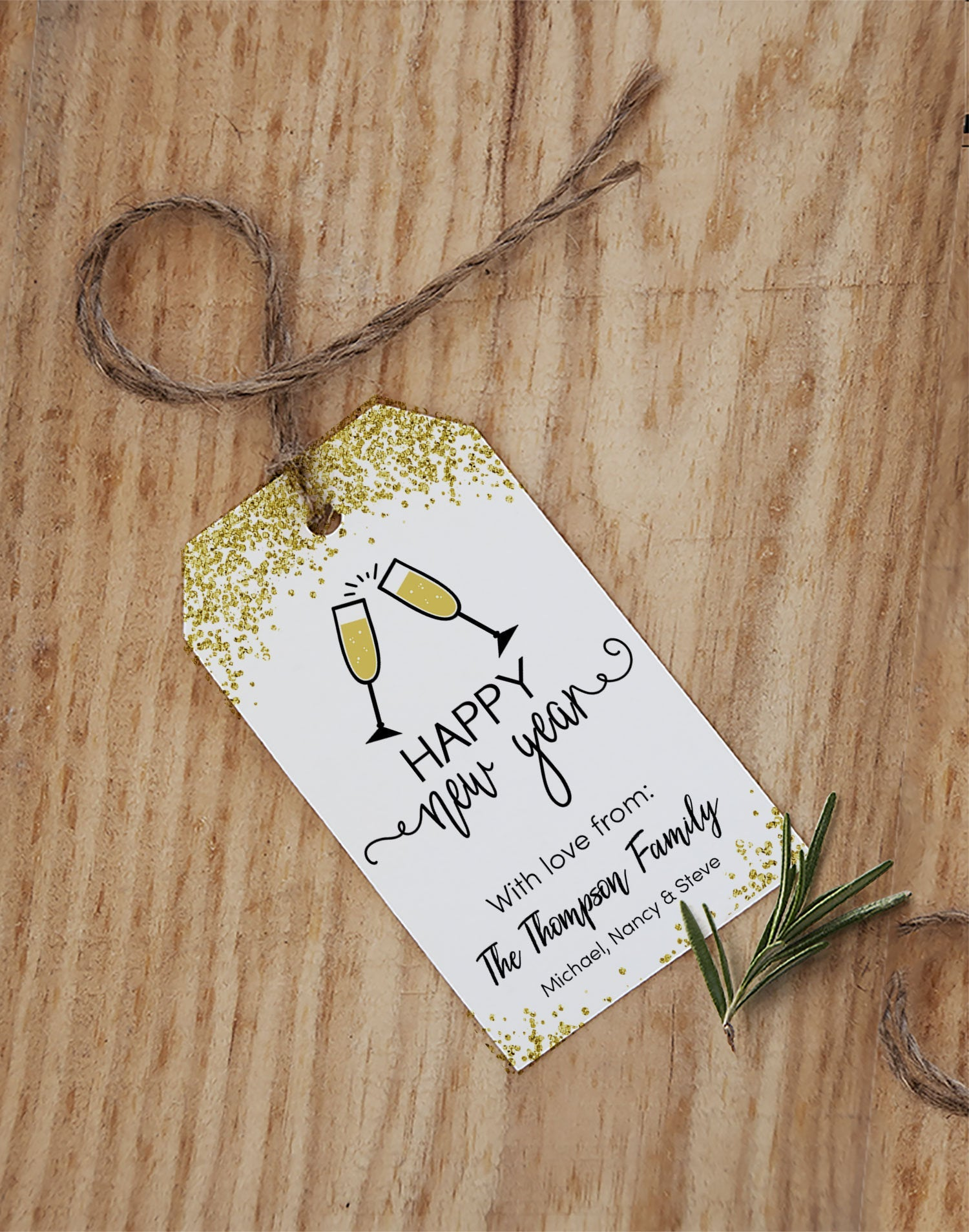 Editable New Year Tags, Favor Tags PDF, Instant Download - TitaTipsPrintables