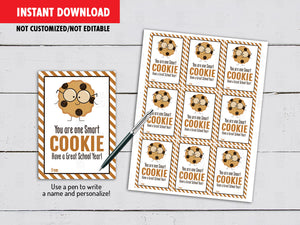 You are one SMART Cookie, Back to School Gifts Ideas, Instant Download - TitaTipsPrintables