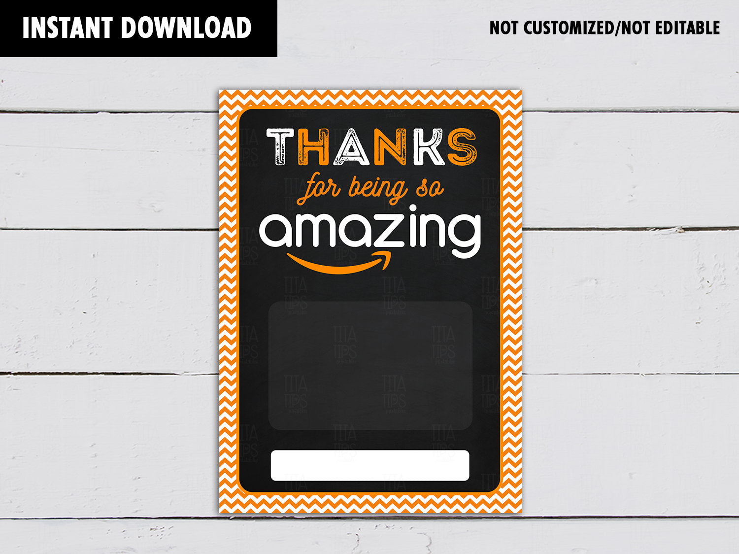 Thanks for being so Amazing Gift Card Holder, Printable Teacher's Appreciation, Instant Download - TitaTipsPrintables