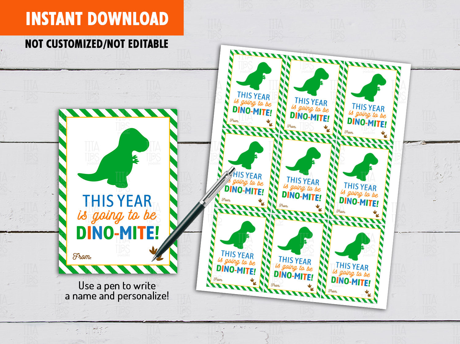 This year is going to be DINOMITE, Back to School Gifts Ideas, Instant Download - TitaTipsPrintables