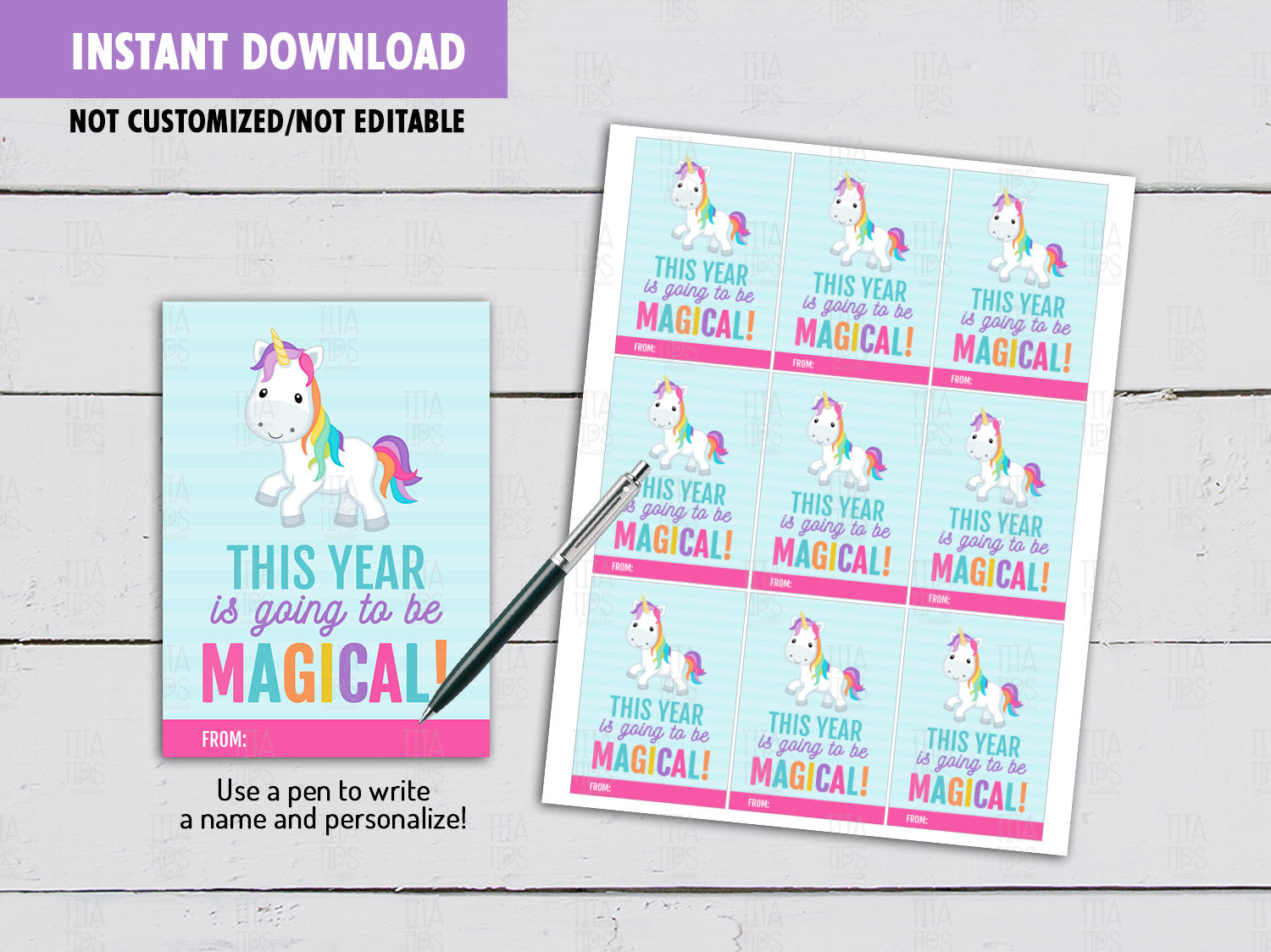 This year is going to be Magical, Back to School Gifts Ideas, Instant Download - TitaTipsPrintables