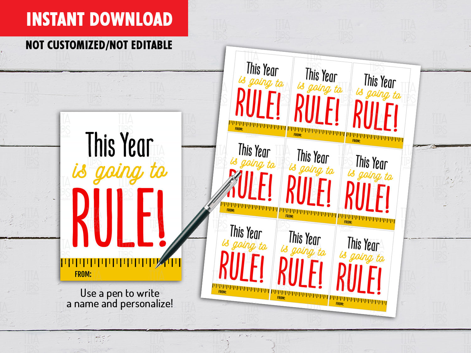 This year is going to RULE Gifts Tag Ideas, Instant Download - TitaTipsPrintables