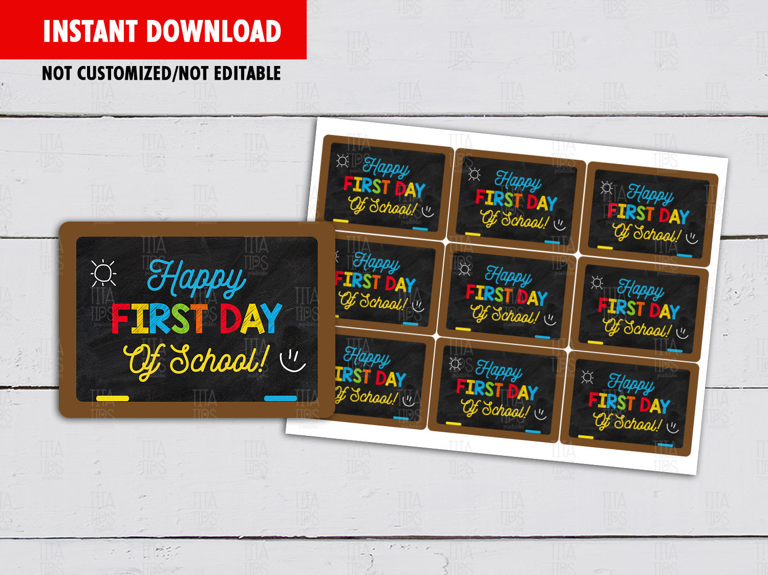 Happy First Day of School, Back to School Chalkboard Gift Tags Ideas, [INSTANT DOWNLOAD] - TitaTipsPrintables