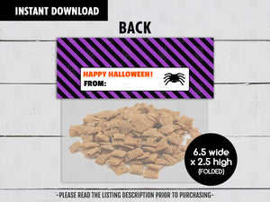 Monster Scabs Treat Bag Topper, Printable Halloween Night Goodies Bag, Instant Download - TitaTipsPrintables
