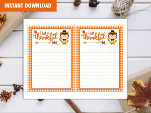 Owl Thanksgiving Stationery, Gratitude Bullet Journal Pages, Journaling Sheet - TitaTipsPrintables