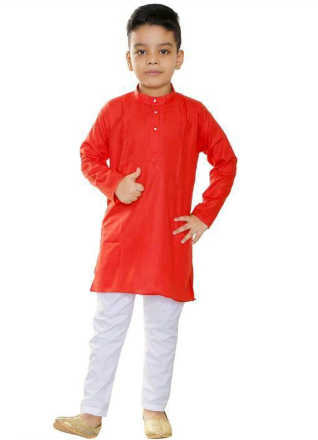 Red Boys Kurta Pajamas