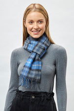 Load image into Gallery viewer, Denim Check Scarf