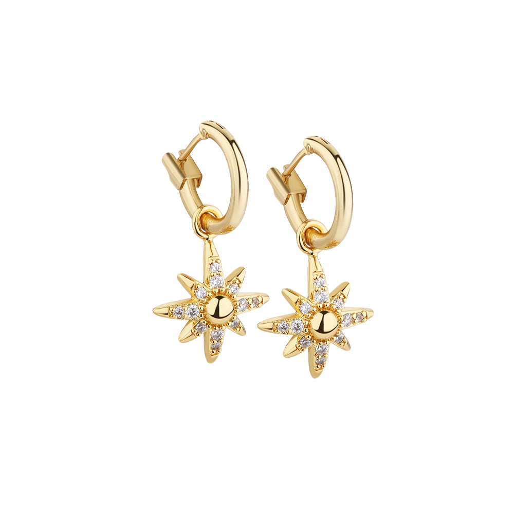 Star Earring clear stones