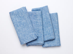 Irish Linen Napkins - Summer Sky